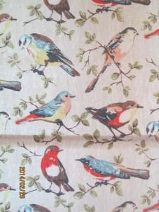 Garden Birds Roman Blind
